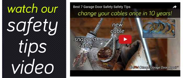 Best 7 garage door safety tips