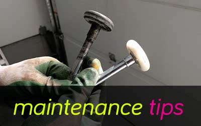 Garage door rollers, new vs old, maintenance tips