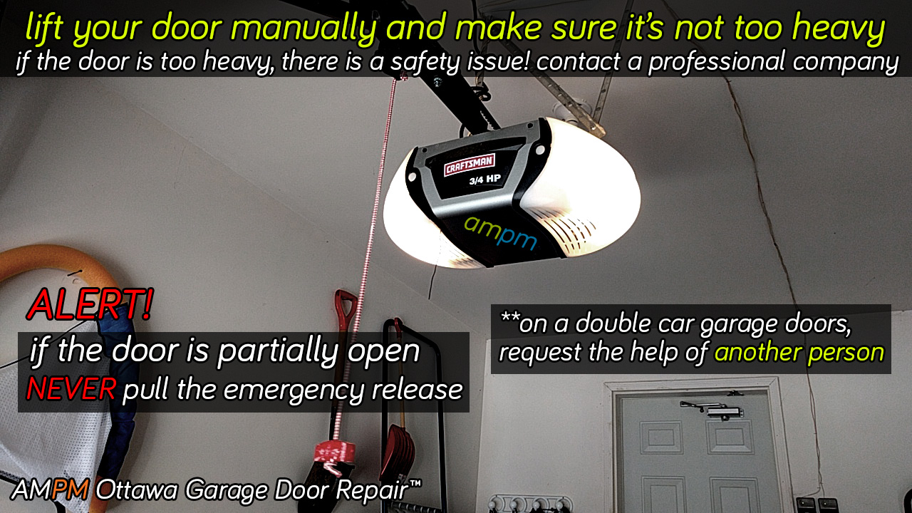Garage door opener safety tips