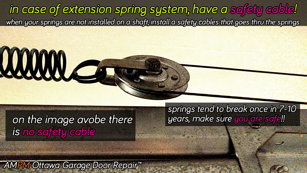 Extension garage door spring