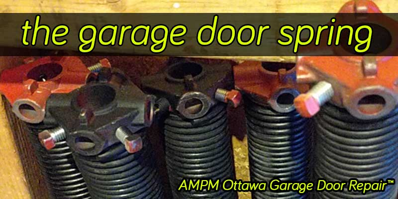 Garage door spring types