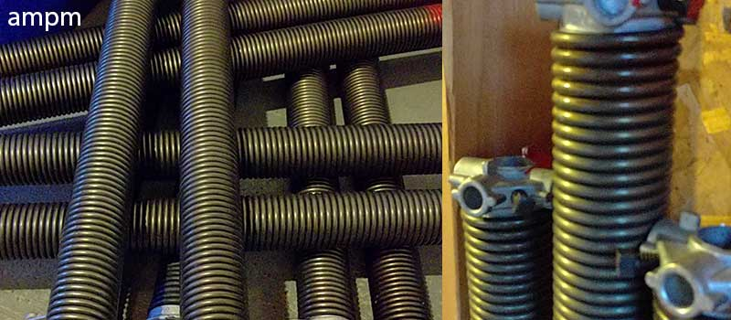 Torsion spring of a residential garage door