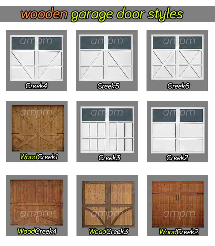 Wooden garage door styles