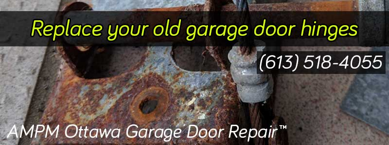 Rusty garage door hinge