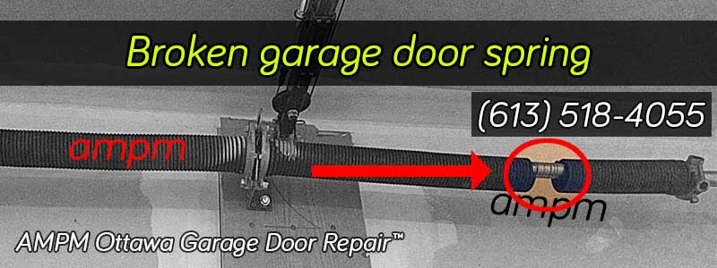 Broken garage door spring