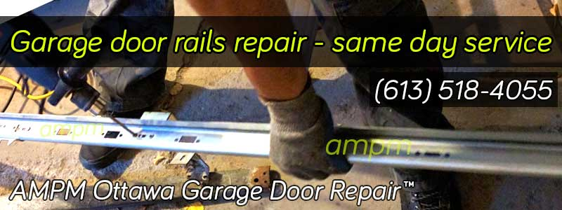 Garage door rail repair project - at work image