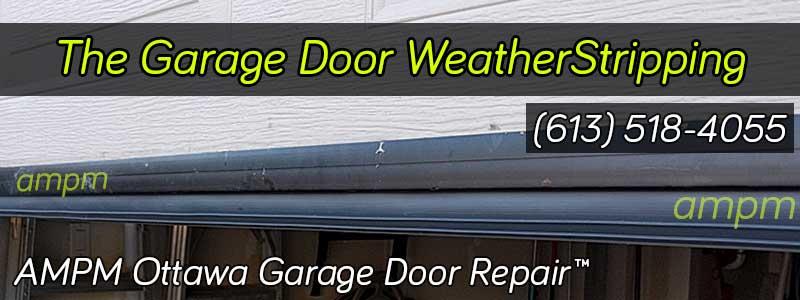Garage door bottom seal made of rubber