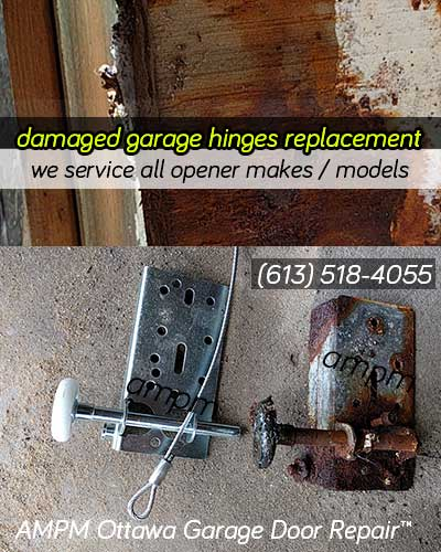 Garage hinges and brackets