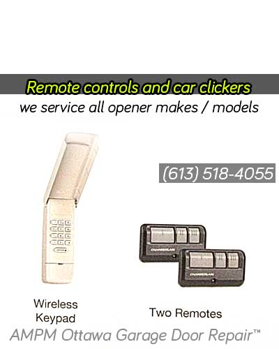 Garage door remote controls and keypads