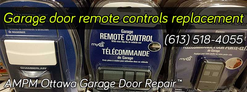 A remote control of garage doors