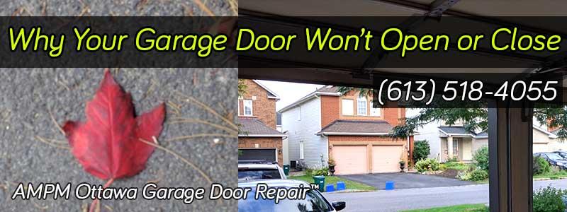 A residential garage door located in Ottawa, Ontario