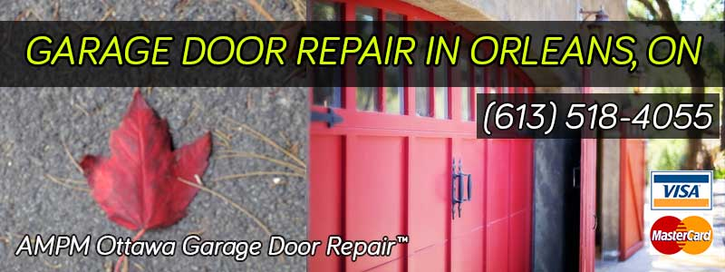 Garage door project in Orleans, Ontario